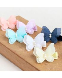 Pastel Butterfly Hairpin - Peach