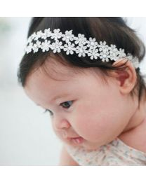 Twin Cubic Flower Headband