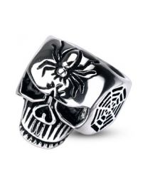 Spider Web Skull Cast Ring 316L