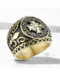 Celtic Cross Gold IP S.S Casting Rings