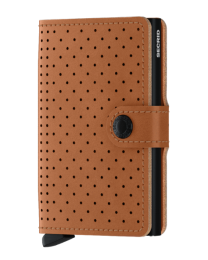 Miniwallet Perforated - Cognac