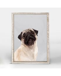 Puggy Love by Green Lili - 5x7 Mini Framed Canvas