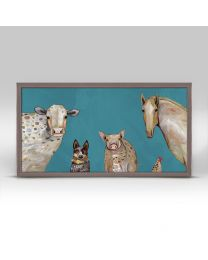 Cattle Dog and Crew By Eli Halpin - 10x5 Mini Framed Canvas