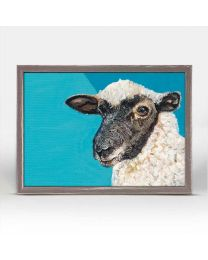 Einstein the Black Sheep by Kerryann Torres - 7x5 Mini Framed Canvas