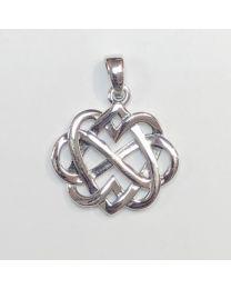 Silver Celtic Design Pendant - Love Knot