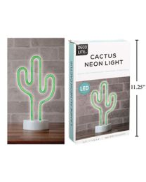 LED Cactus Neon Light