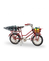 """Small Bicycle with Tree & Gifts - 7.5"""""""