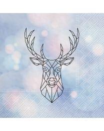 Large Geometric Deer Napkin - 20PK