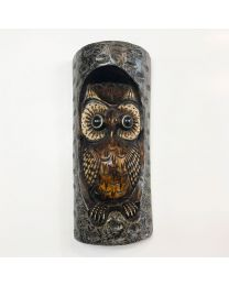 Wooden Owl Resin 30cm