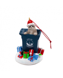 Toronto Raccoon Trash Ornament