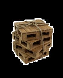 Wooden Pallet Coaster 4pc Set