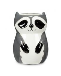 Sitting Raccoon Planter