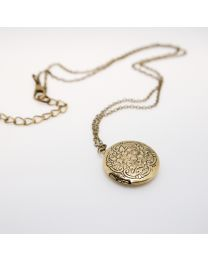 Small Round Locket Necklace