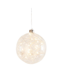 Hanging Orb Clear Glass LED Decor Ball