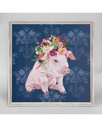 Sweet Piggy by Heather Gauthier - 6x6 Mini Framed Canvas