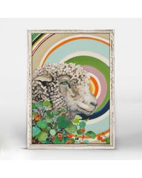 Psychedelic Sheep By Paige Holland - 5x7 Mini Framed Canvas