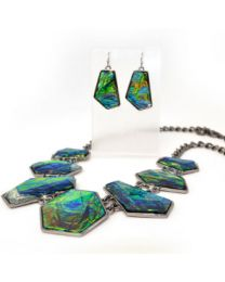NECKLACE/EARRING SET - ARIZONA STONE