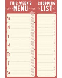 NOTE PAD - THIS WEEK'S MENU