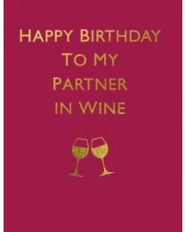 Partner in Wine - Greeting Card