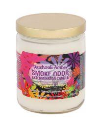 Smoke Odor Exterminator Candle - Patchouli Amber
