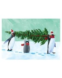 Penguin Tree - Greeting Card