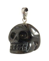 Black Obsidian Skull Pendant