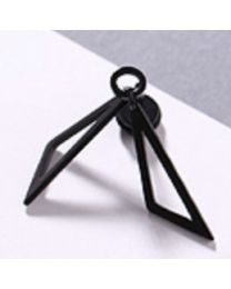 Double Triangle Piercing - Black