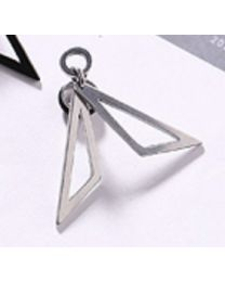 Double Triangle Piercing - Silver