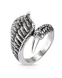 Eagle Wing with Claw Closure Cast Ring
