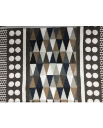 SCARF WITH TRIANGLE COLORS - BROWN
