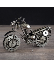 Metal Motorcycle Figurine