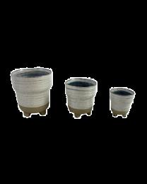 3pc. Ceramic Planters Set