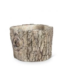 Small Log Planter with Knot Detail