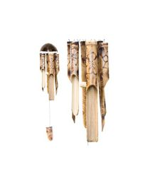 Wind chime, Bamboo with flower