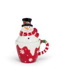 Snowman in Cup Salt & Pepper