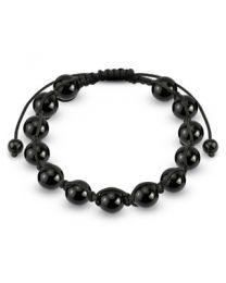 Black Metallic Beads Bracelet