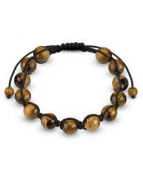 Tiger Eye Stone Round Beads Bracelet