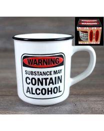 """WARNING MUG """"SUBSTANCE MAY CONTAIN ALCOHOL"""""""