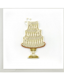 WEDDING CAKE Quilling Card