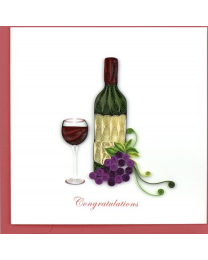 WINE CONGRATS Quilling Card