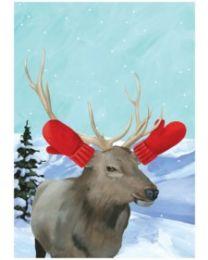 Winter Elk - Greeting Card