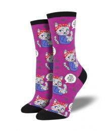 Socksmith Ladies Socks - We Can Mew It